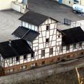Altes Fachwerkgebäude auf dem Romika-Gelände wohl noch aus der Zeit der Erzwäsche (1890er Jahre).