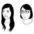 KAVCアートビレッジボイス内コーナー「レコメン」似顔絵イラスト
