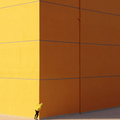 ORANGE IS THE NEW LEMON  A newly built and painted building in Ankara  3847x3847px