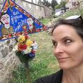 """Peinture d'Helen Juren pour une pancarte du specatcle """"Labeur au Ventre"""" de Bruno Hallauer 2016"""