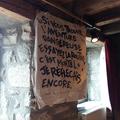Entrée du Théâtre de l'Arentelle à St Flour de Mercoire, France