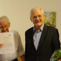 Egon Jüttner bei der Ehrung Manfred Kleins zum Ehrenmitglied der CDU-Sandhofen