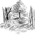 Chuchotement d'un ruisseau - Jardins de l'école Du Breuil - Stylo bille