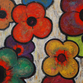 Flowers 18, oil on canvas, 36x36 Janet Hamilton