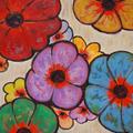 Flowers, Oil on canvas, 40x30 Janet Hamilton