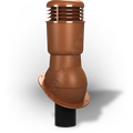 Kominek wentylacyjny izolowany na gont bitumiczny i blachy płaskie ∅110 ceglasty 8004