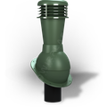 Kominek wentylacyjny nieizolowany na gont bitumiczny i blachy płaskie ∅110 zielony 6020