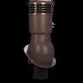 Kominek wentylacyjny izolowany na gont bitumiczny i blachy płaskie ∅110 brązowy 8017
