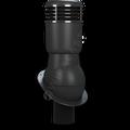 Kominek wentylacyjny izolowany na gont bitumiczny i blachy płaskie ∅110 czarny 9005