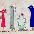 ひそむばけもの(2014)  初出:人外展 アクリルガッシュ