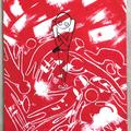 虫も殺せぬ(2015)  初出:むし展 アクリルガッシュ サンドペースト