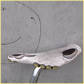 Toony Baldwin, montiert auf Fahrrad, Leder handpunziert, Unikat, neu.
