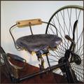 Replika Fahrradsattel Rotary Tricycle.