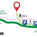 leplan d'accès au parc aventure