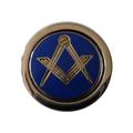 Pin's Équerre & Compas bleu et or