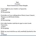 Тест: Past Simple - Pаst Progressive. 7 класс.