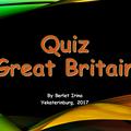 Великобритания, Викторина по страноведению, 2017