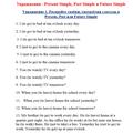 Грамматические упражнения на употребление видо-временных форм английского глагола