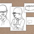 ° Cartoons für Unternehmens-Präsentation (Bleistift)