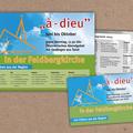 "° Abendgebet-Reihe ""à-dieu"" (Plakat / Flyer)"