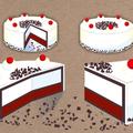 ° Torten-Grafiken für Direct-Mailing-Layout (Vektorgrafiken)