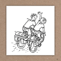 ° Markerillustration für Veranstaltungsplakat (OnTour 2005 / KJG)