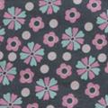 21 Blumen Grau/Rosa/Minze