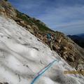 第2ルンゼ急雪渓。