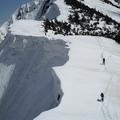 釜谷山へのルート雪庇注意。