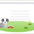 犬 ポストカード