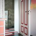 """Vintage Eichendielen """"Loft""""  in weiß, anthrazit und rot"""