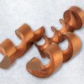 Kupferelektrode mit Erodierabfall - Mack Erodiertechnik