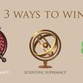 Es gibt drei verschiedene Arten zu gewinnen...