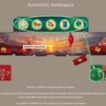 Der Sieg in Forschung & Fortschritt (6 unterschiedliche Forschungssymbole sammeln); bei einem Paar identischer Forschungssymbole = ein Forschungsplättchen (Boni)