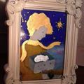 箱の中の羊 ガラス絵