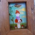 森のピッコリーノ ガラス絵