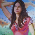 Azahara en mayo. T.Mixta sobre lienzo. / Azahara en mayo. Mixed medium on canvas.