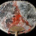 Monotipia s/ papel de arroz s/ leque de bambu