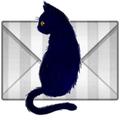 黒猫くんのメールアイコン(ほうふしなこ様の作品より)