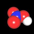 Salpetersäure (HNO<sub>3</sub>) Molekül