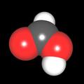 Ameisensäure (CH<sub>2</sub>O<sub>2</sub>) Molekül