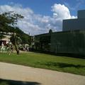 兼六園の後 「21世紀美術館」へ。たしかついこの間、この建物の建築者が世界的な賞を受賞してましたね。