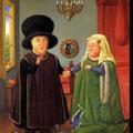 El Matrimonio de Arnolfini .- Fernando Botero -.