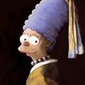 La Joven de la Perla .- Marge Simpson -.