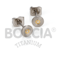 Brillantohrtsecker Titan bicolor/ teilgoldplattiert von Boccia
