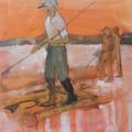 Flösser II, Öl auf Leinwand, 2012