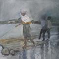 Flösser I, Öl auf Leinwand, 2012