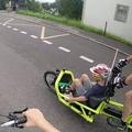 Mit dem Load von Riese & Müller bei der Slow Up in Brugg