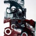 Graphische Serie 2017,1; 78 x 57 cm, Lithographie; Graphische Arbeit von Micha Hartmann, Esslingen