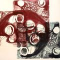Graphische Serie 2017,4;  57 x 78 cm, Lithographie; Graphische Arbeit von Micha Hartmann, Esslingen
